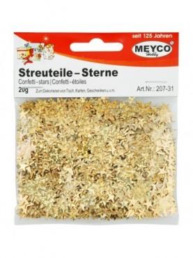 Αστέρια χρυσά ιριδίζοντα Meyco