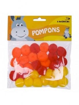 Pom-pom τριχρωμία i-Mondi