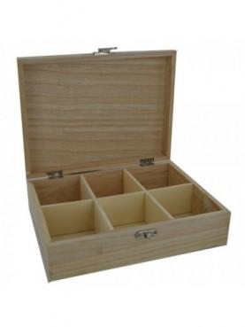 Ξύλινο κουτί με χωρίσματα Creativ