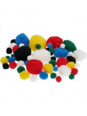 Pom-pom χρωματιστά 10mm MEYCO hobby